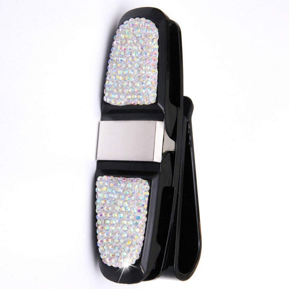 Exceart 1Pc Sonnenbrillenhalter Clip Auto Brillenhalter Strass Drehbar f/ür Auto Sonnenblende Auto Auto Fahrzeugzubeh/ör See Blau