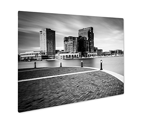 Ashley Giclee Metal Panel Print, Long Exposure Of Skyscrapers In Harbor East Seen From The Waterfront Promenade, 8x10, - Harborplace The & Gallery