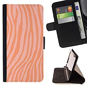 - Orange Salmon Food Fish Zebra - Estilo PU billetera de cuero del soporte del tir???¡¯????n [solapa de cierre] Cubierta- For Apple Iphone 6 PLUS 5.5 £š Devil Case £©