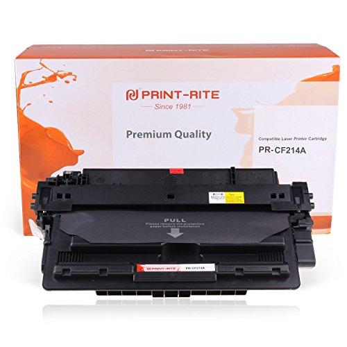 PRINT-RITE Cpmpatible with 14A CF214A 14A CF214A 214A CF214 214 Black Toner Cartridge 10000 Page Yield for Laserjet Enterprise 700 Printer M712n M712dn M712xh M725f M725dn M725z
