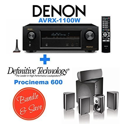Denon Avr X1100w 7 2 Channel Full 4K Ultra Hd A V Receiver With Bluetooth And Wi Fi   Definitive Technology Procinema 600 5 1 Speaker System Bundle