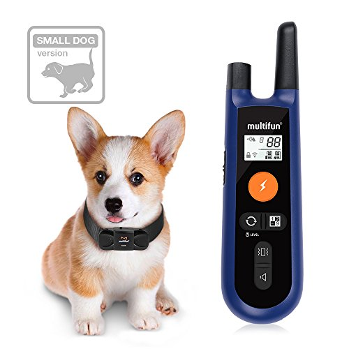 Dog Training Collar for Small Dogs, multifun Remote Dog Shock Collar, Rechargeable Electronic Collar with Beep Vibration and Weakened Shock Function (Small&Medium Size Dog Version)