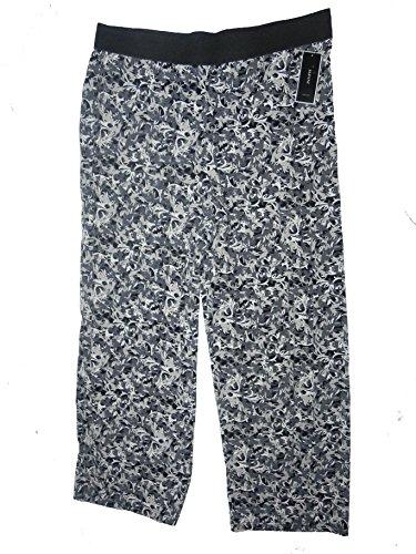 ALFANI SCROLL MIX PRINT ELASTIC WAIST PANTS XLARGE