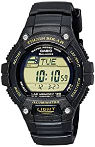 Casio Youth Digital Black Dial Solar Powered Runner Watch - W-S220-9AVDF (D093)