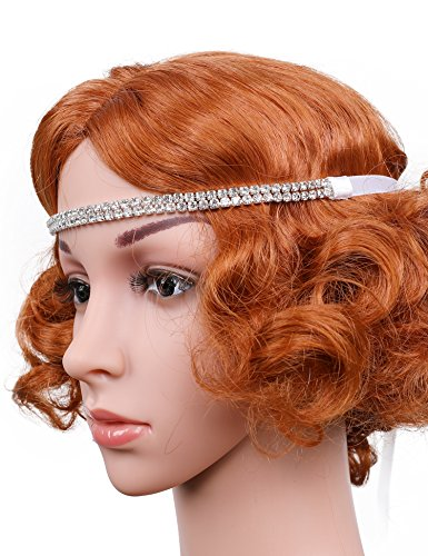 Flapper Girl Bling Silver Tone Art Deco Great Gatsby Inspired Handmade Flapper Headband (Silver)