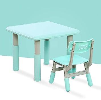 QKDSA Juego de Mesa y sillas de plástico para niños o de Estudio ...