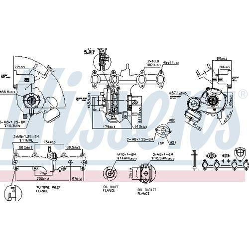 Nisss 93179 Turbo Charger: