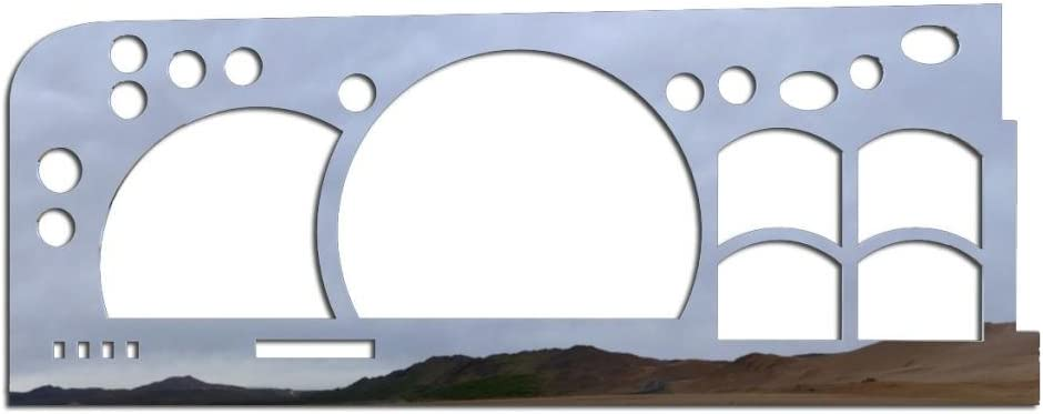 1988-1991 Chevy C1500 BZL-408-Chrome-02 Ferreus Industries Polished Stainless Gauge Cluster Dash Bezel Trim fits