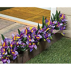 The Paragon Artificial Flowers - Fake Purple Iris Plant, Realistic Outdoor Silk Flowers 68