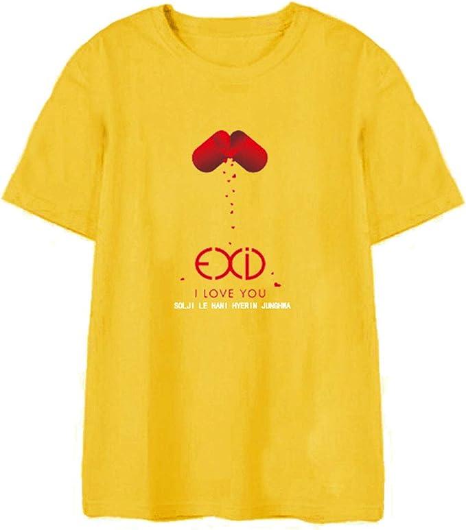 EXID Manga Corta Camiseta Nuevo Álbum I LOVE YOU Algodón Flojo Tee Tops Caramelo Color De La Camisa Para Unisex: Amazon.es: Ropa y accesorios