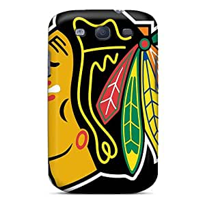 TraciCheung Samsung Galaxy S3 Protective Hard Phone Covers Unique Design Colorful Chicago Blackhawks Pictures [tiA5055WPWk]