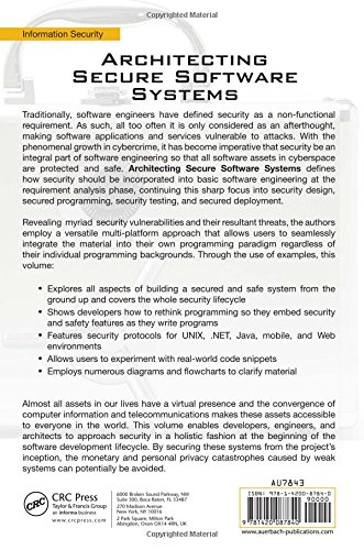 Architecting Secure Software Systems by Brand: Auerbach Publications