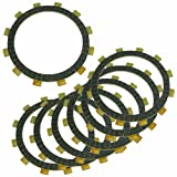 Caltric CLUTCH FRICTION PLATE Fits KAWASAKI KL250 KL-250 SUPER SHERPA 250 1997 2000-2009 7 PLATES