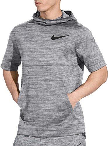 Basketball Hooded (NIKE Men's Spotlight Short Sleeve Basketball Hoodie (Grey Heather, X-Large))