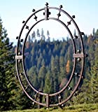 H Potter Garden Trellis Wrought Iron Round Metal Weather Resistant Yard Art