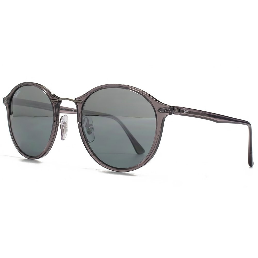 9239a621b5 Ray-Ban Metal Bridge Round Sunglasses in Grey RB4242 620088 49 49 Grey  Silver Mirror  Amazon.co.uk  Clothing