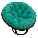 International Caravan 3312-MS-EM-IC Furniture Piece Rattan 42-inch Papasan Chair with Micro Suede Cushion