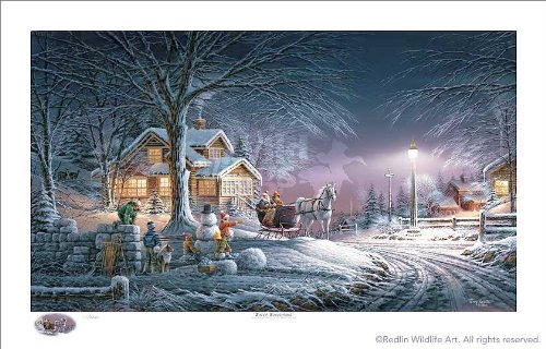 Winter Wonderland Holiday by Terry Redlin Limited Edition Print of 2007 Numbered
