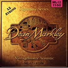 Dean Markley VintageBronze Signature Series Acoustic 12-String, 11-50, 2204,
