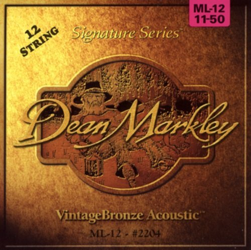 Dean Markley VintageBronze Signature Series Acoustic 12-String, 11-50, 2204, Medium Light