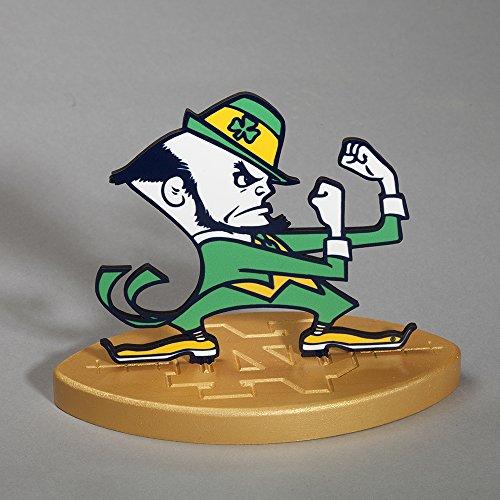 South Bend Woodworks Notre Dame Desk Logo Stand - Gold Base
