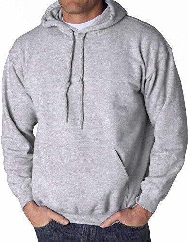 Gildan Big Men's Hooded Pullover Sweatshirt (5XL, Gray)