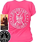 Sons of Libery Molon Labe. Come and Take. Skull. WOM Pink/LRG T-Shirt