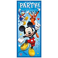 Unique Industries Mickey Mouse 6034; Door Poster Decoration (Each) - Party Supplies