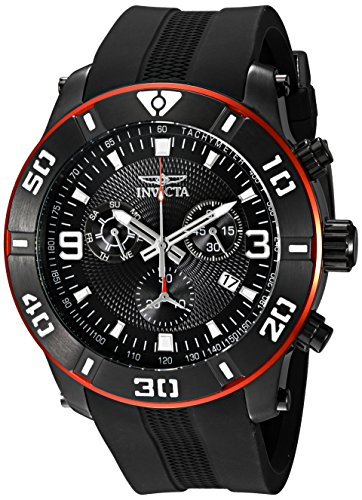 Invicta Men's 19825 Pro Diver Analog Display Swiss Quartz Black Watch (Invicta 50 Millimeters)