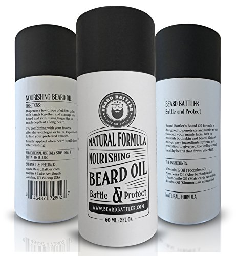 Beard Oil Unscented - Add to a Mens Grooming or Travel Kit Best Moustache Growth Works Great with Brush, Balm, Conditioner, Shampoo & Wax Boar Bristle Hair Brush and Comb (Men Moustache)