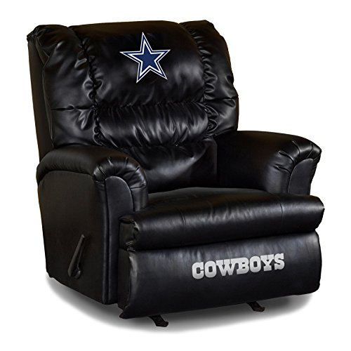Imperial Officially Licensed NFL Furniture: Big Daddy Leather Rocker Recliner, Dallas Cowboys Dallas Cowboys Embroidered Leather