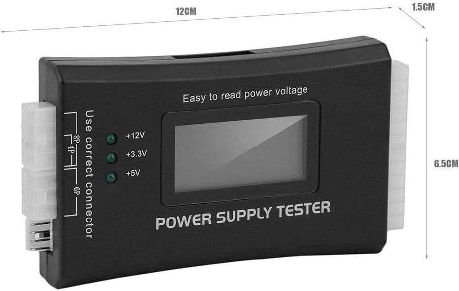 Hotaluyt ATX SATA BTX ITX TFX Power Supply 20 / 24Pin Tester Detector Display LCD Computer Host strumento di riparazione: Amazon.es: Hogar