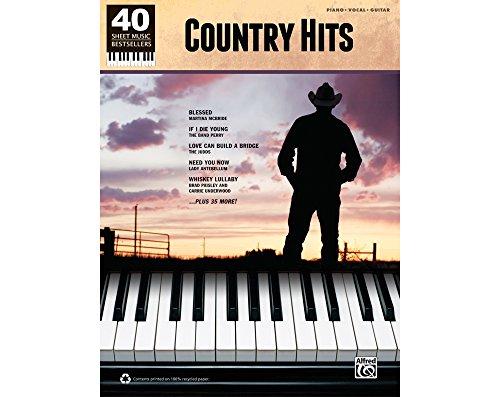 Alfred 40 Sheet Music Bestsellers: Country Hits (Desperado Piano Music)