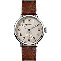 Ingersoll Men's Quartz Stainless Steel and Leather Casual Watch, Color:Brown (Model: I03301)