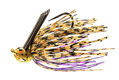 Z-Man Fishing CrosseyeZ Power Finesse Jig 1/4 oz 2/0 Flipping Hooks Wire Trailer Keeper Skirt, PB&J