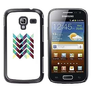 Be Good Phone Accessory // Dura Cáscara cubierta Protectora Caso Carcasa Funda de Protección para Samsung Galaxy Ace 2 I8160 Ace II X S7560M // Art Iridescent White Purple