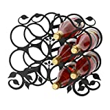 Wrought Iron Grapevine Wine Rack (10 Bottle)