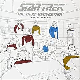 amazoncom star trek the next generation adult coloring book 9781506702513 cbs books - Star Trek Coloring Book