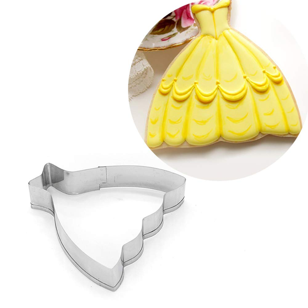 Ogquaton Premium 9pcs Vestido cortadores de Galletas de Acero Inoxidable Sugarcraft Fondant Cutters Set