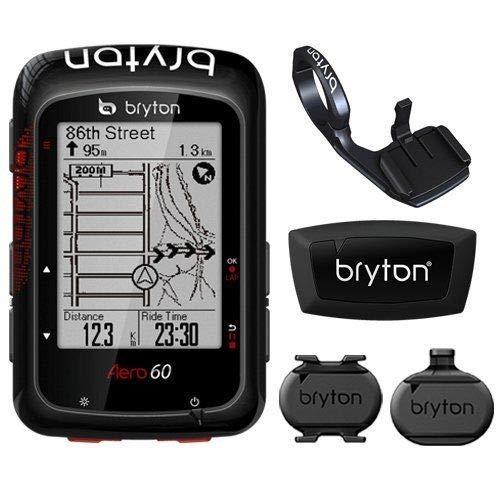 Bryton Aero 60T GPS Cycling Computer BLE Speed & Cadence, HR Sensor & F Mount #TB3012-Self