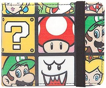 9fe37deaa Super Mario - Monedero personajes cartera Luigi Yoshi Peach Nintendo,  11x9x2cm: Amazon.es: Equipaje