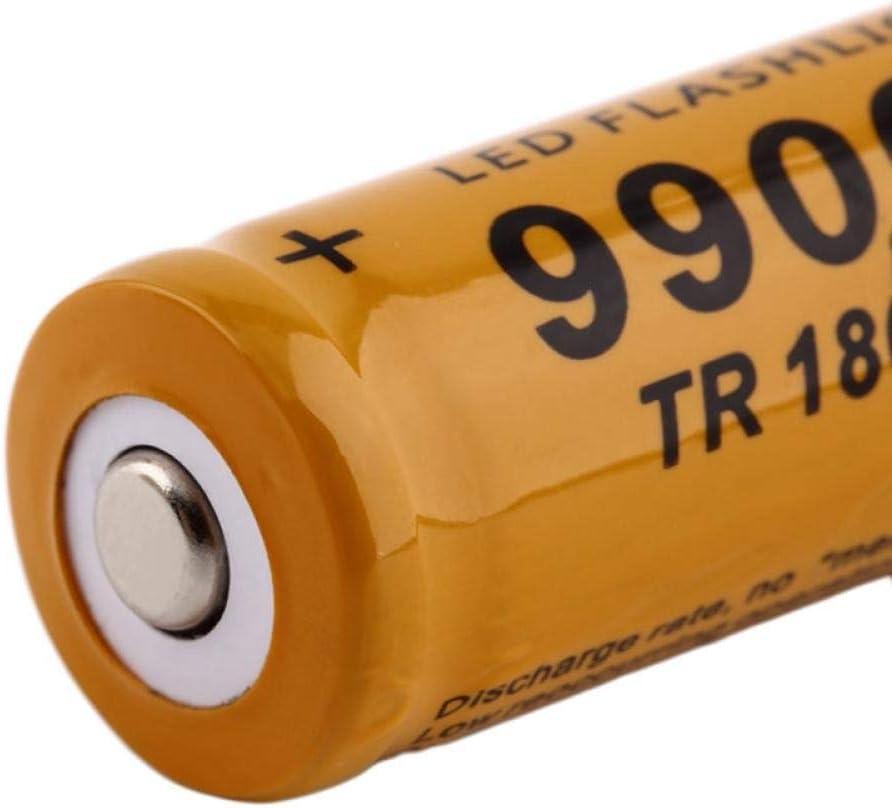 3.7V 9900mah 18650 Battery Lithium ion Rechargeable Battery LED Flashlight flashlight-6Pcs 4pcs