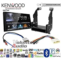 Volunteer Audio Kenwood DMX7704S Double Din Radio Install Kit with Apple CarPlay Android Auto Bluetooth Fits 2010-2012 Nissan Sentra