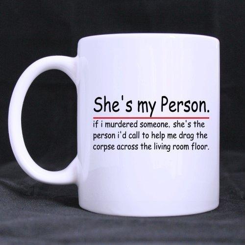 Funny Gift - Funny Grey's Anatomy Theme Coffee Mug,Tea Cup, Ceramic Material Mugs,White 11oz WECE