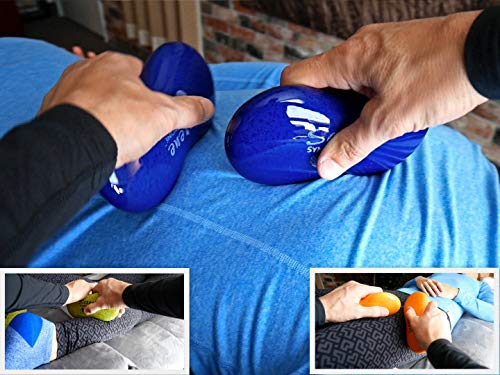 Serene (Starlight)(Single) Synergy Stone Pro - Contoured Hot Stone Massage Tool - Relaxing and Therapeutic for Neck, Back, Legs, Feet - Ultra-Smooth for Massage on Skin with Oil or Over Clothes