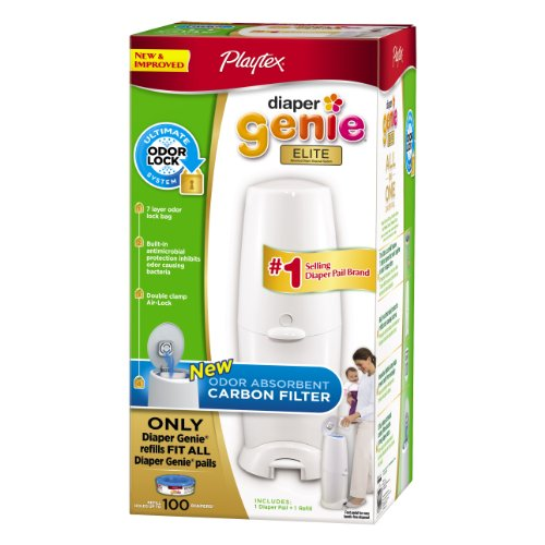 Playtex пеленки Genie Elite System Ведро с угольным фильтром запаха Блокировка 100 Граф