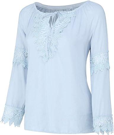 ESAILQ-Blusas para Mujer Elegantes Verano Fiesta Sexy Camisetas ...