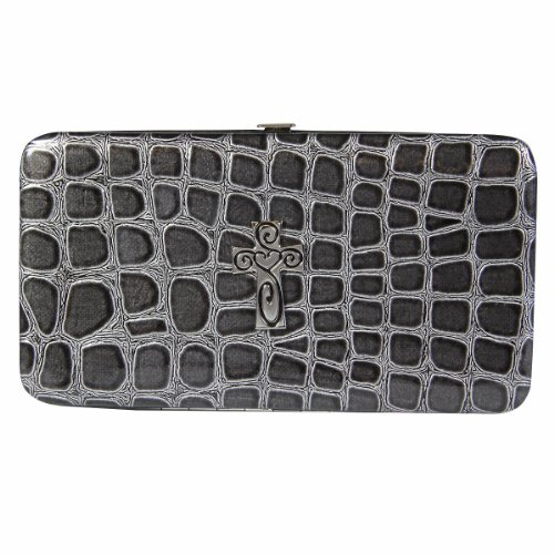 Metallic Croc-Embossed Opera Wallet w/Cr - Metallic Embossed Croc Shopping Results