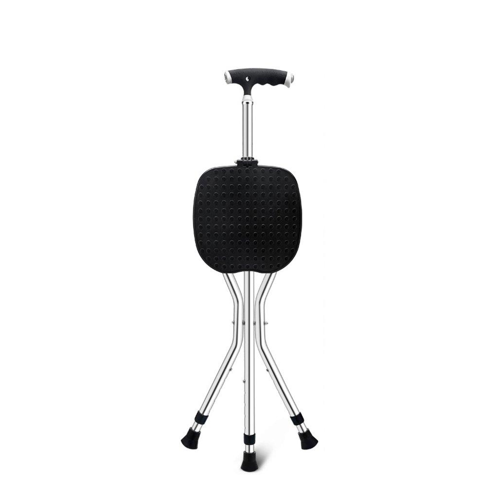 NUBAO 歩行スティック高齢者の折り畳み式椅子/便の松葉杖5段ストレッチウォーカーハンドルランプ2色の長さ85-95 cm(33.46-37.4インチ) (色 : A, サイズ さいず : One) B07CPTPMBM One|A A One
