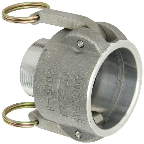 Dixon 2015-B-AL Aluminum Type B Cam and Groove Reducing Hose Fitting, 2